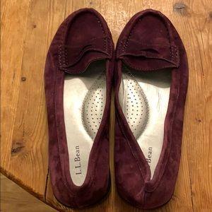 LL Bean suede burgundy shoes